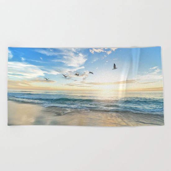 Beach Scene 34 Beach Towel