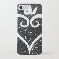 kingdom hearts iPhone & iPod Cases featuring Kingdom Hearts Heart by Herk Designs