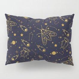 Golden Celestial Bugs Pillow Sham