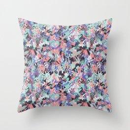 Aquarius - Paint Splatters Throw Pillow