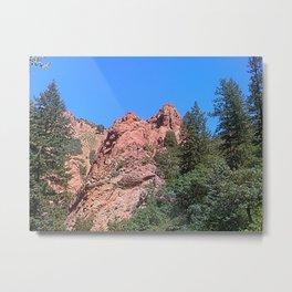 Red Peaks In Cheyenne Canon Metal Print