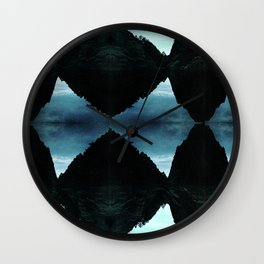 twin peaks - sky and forest vs. reflection Wall Clock
