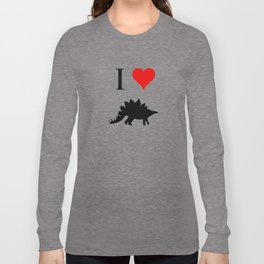 I Love Dinosaurs - Stegosaurus Long Sleeve T-shirt