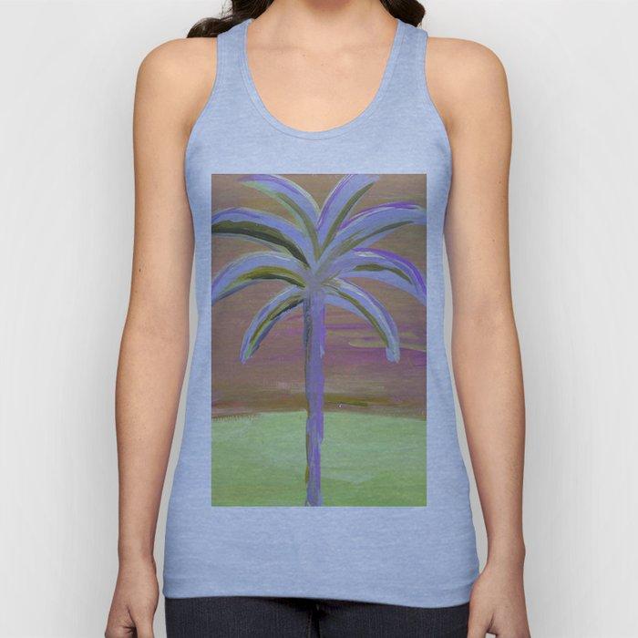 purple palm Unisex Tank Top