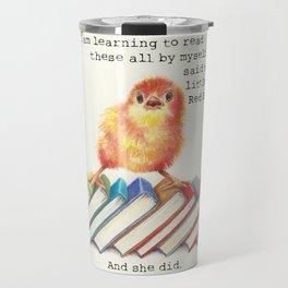 Little Red Hen Reads Travel Mug