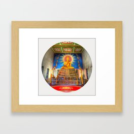 Golden Temple shrine (Circle) Framed Art Print