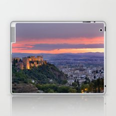 The alhambra and Granada city at sunset Laptop & iPad Skin