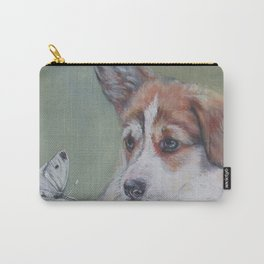 Pembroke Welsh Corgi dog portrait painting by L.A.Shepard fine art Carry-All Pouch