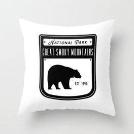Great Smoky Mountains Throw Pillow