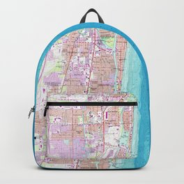 Vintage Map of Boca Raton Florida (1962) Backpack