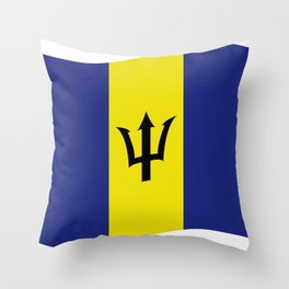 barbados flag Throw Pillow