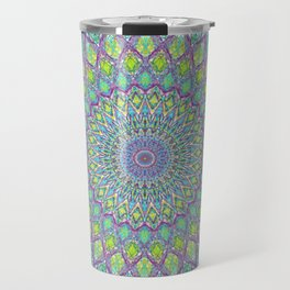 Purple Spirograph Mandala 0118 Travel Mug