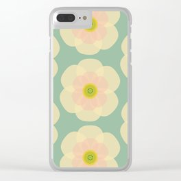MCM Camelia Clear iPhone Case