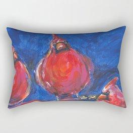 Cardinals and Hibiscus Rectangular Pillow