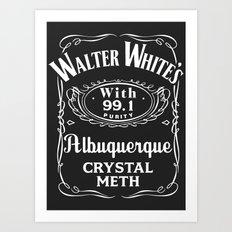Walter White Pure Crystal Meth. Art Print
