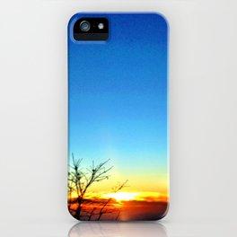 Mountain sunset. iPhone Case