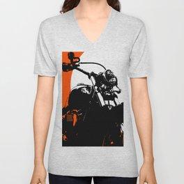 """Motorcycle wheel"" - Classic Car Lovers Unisex V-Neck"