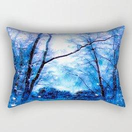 Winter Snow Storm Rectangular Pillow