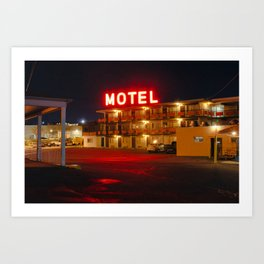 Beltway Motel Art Print