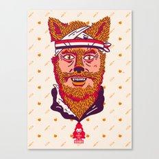 Crack Fox Canvas Print