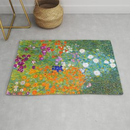 Klimt Farm Garden - Digital Remastered Edition Rug