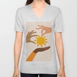 Our sun Unisex V-Neck
