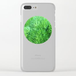 Dianthus Green Trick Clear iPhone Case