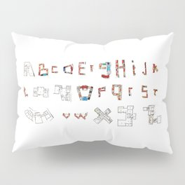 Architecture Alphabet Pillow Sham