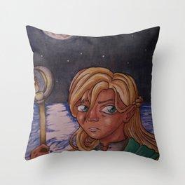 Moon Mage Throw Pillow