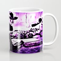 rock and roll Mugs featuring Rock N' Roll Gypsy by Jussi Lovewell