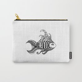 Black Fish Fine Line Ink Art Illustration (P12 004) Carry-All Pouch