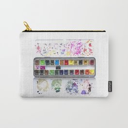 Messy Watercolor Painting Palette Photograph Carry-All Pouch