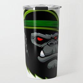 Military Gorilla Head Travel Mug