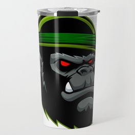 Military Gorilla Head Travel Mug