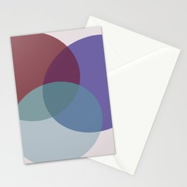Oval Overlap | Purple-Blue-Pink Stationery Cards
