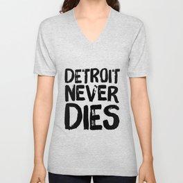 Detroit Never Dies Unisex V-Neck
