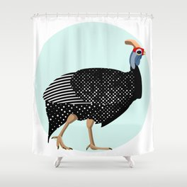 Guinea Fowl Shower Curtain