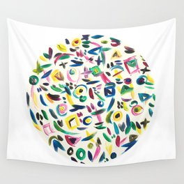 Rainbow of Happiness Wall Tapestry