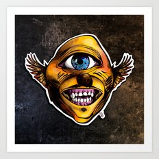 Cycloptic Dog Eagle - Little Wing Art Print