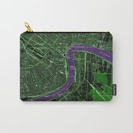 New Orleans Louisiana 1932 vintage old beautiful map Carry-All Pouch