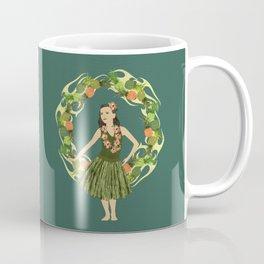 Hula Pineapple Wreath Coffee Mug