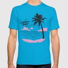Catalina Breeze LARGE Teal Mens Fitted Tee