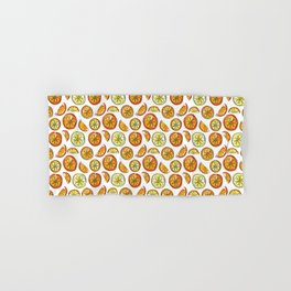 Illustrated Oranges and Limes Hand & Bath Towel