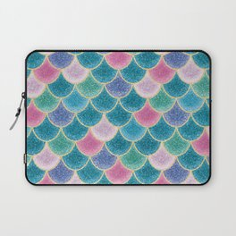 Glittery Mermaid Scales Laptop Sleeve