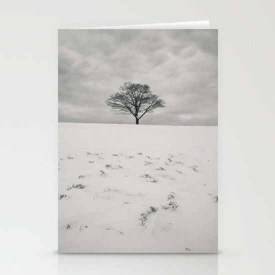 White Winterscape Stationery Cards