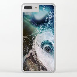 Galactic Glacier Clear iPhone Case