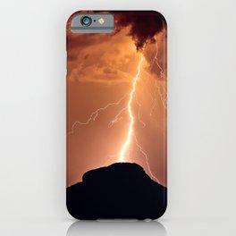 Lightning Strike on Woolsey Peak Arizona iPhone Case