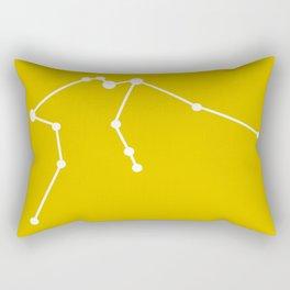 Aquarius (White & Gold) Rectangular Pillow