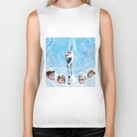 olaf Biker Tanks featuring FROZEN OLAF  by BESTIPHONE5CASESHOP