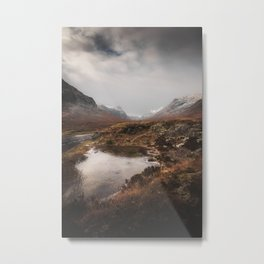 Frozen Mountains Metal Print